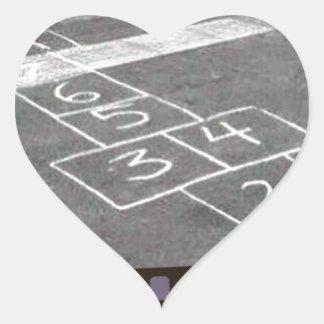 Old hopscotch game heart sticker