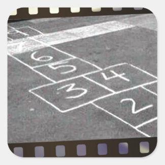 Old hopscotch game square sticker
