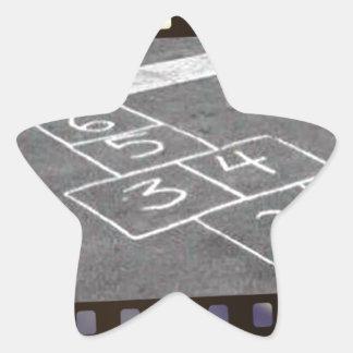 Old hopscotch game star sticker