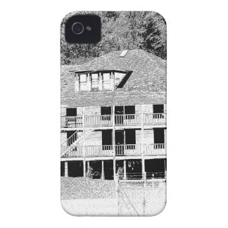 Old Hotel in the Mountains Sketch iPhone 4 Case