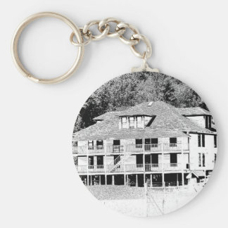 Old Hotel in the Mountains Sketch Keychain