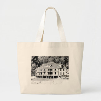 Old Hotel in the Mountains Sketch Large Tote Bag