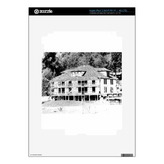 Old Hotel in the Mountains Sketch Decals For iPad 3