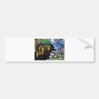 Old House and New Flowers Bumper Sticker