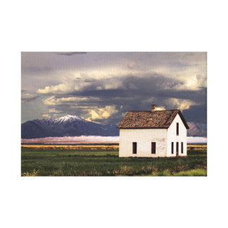 Old House at the Great Sand Dunes in Colorado 12x8 Canvas Print