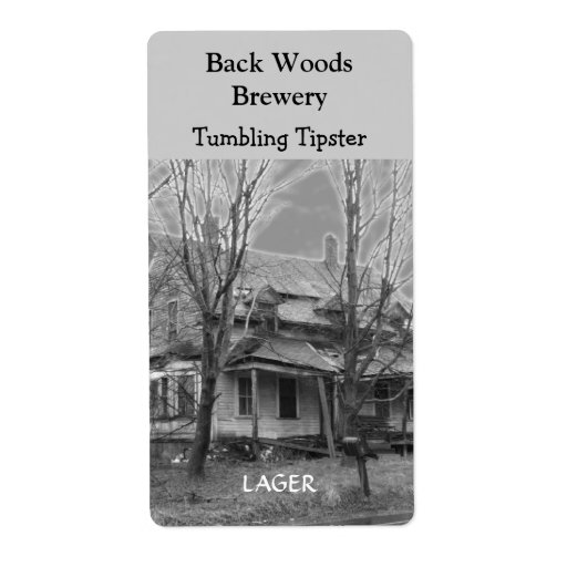 Old house beer wine label zazzle for Classic house labels