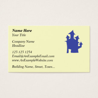 Old House. Deep Blue. Business Card
