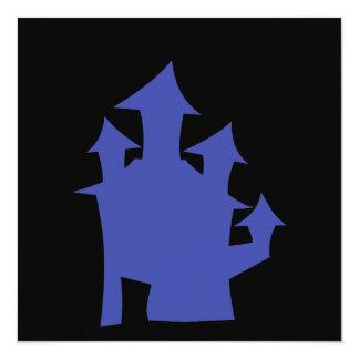 Old House. Deep Blue. Card