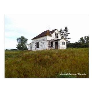 Old House in Saskatchewan Postcard
