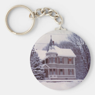 Old House in Winter Keychain