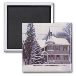 Old House in Winter Magnet