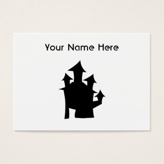 Old House with Towers. Business Card