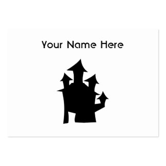 Old House with Towers. Large Business Cards (Pack Of 100)