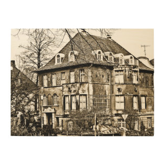 Old house wood canvas