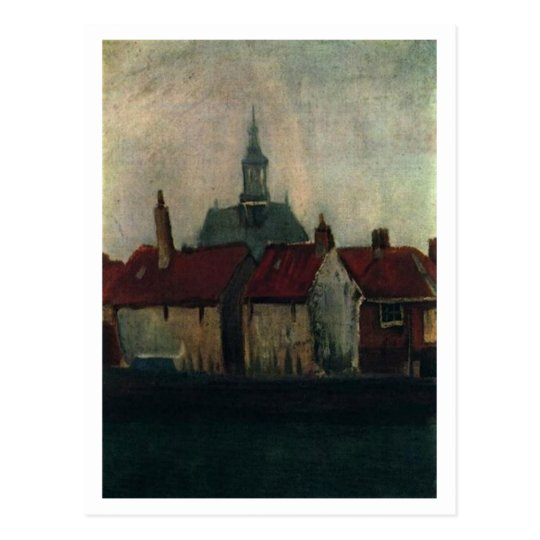 Old Houses with New Church, Vincent van Gogh Postcard