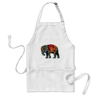 Old iIustração of circus elephant Adult Apron