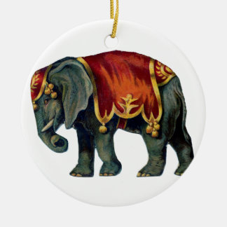 Old iIustração of circus elephant Ceramic Ornament