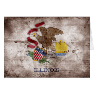 Old Illinoisan Flag; Card