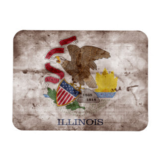 Old Illinoisan Flag; Magnet