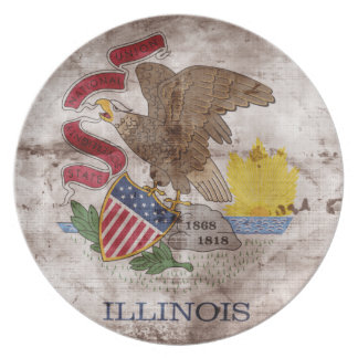 Old Illinoisan Flag; Plate