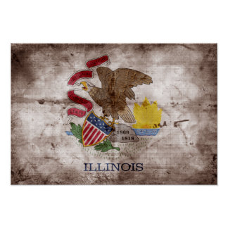 Old Illinoisan Flag; Poster