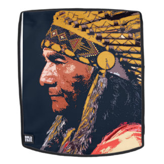 Old Indian Adult Backpack, Face Only Backpack
