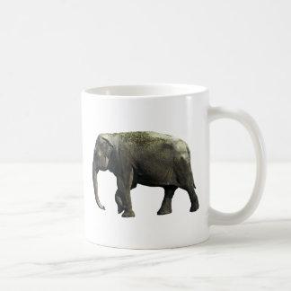 Old Indian Elephant Animals Wildlife Photography Coffee Mugs