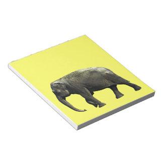 Old Indian Elephant Animals Wildlife Photography Notepad