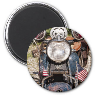 old Indian Harley-Davidson Police Motorcycle 2 Inch Round Magnet
