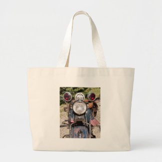 old Indian Harley-Davidson Police Motorcycle Tote Bags