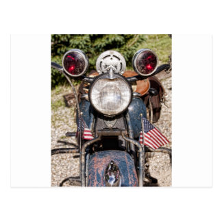 old Indian Harley-Davidson Police Motorcycle Postcard