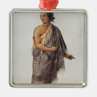 Old Indian Man Metal Ornament