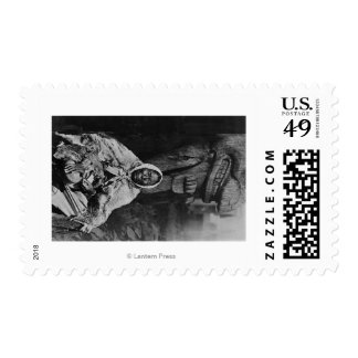 Old Indian Witch Doctor in Alaska Photograph Postage