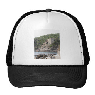 Old industrial structure used in the past trucker hat