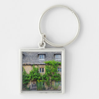 Old Inn along High Street Silver-Colored Square Keychain