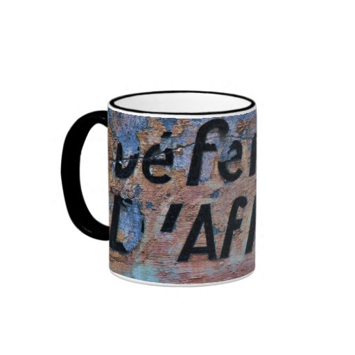 Old inscription ringer coffee mug