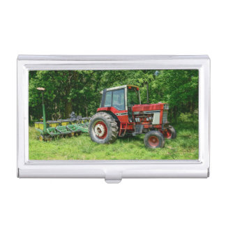 Old International Tractor Case For Business Cards