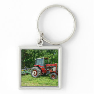 Old International Tractor Keychain
