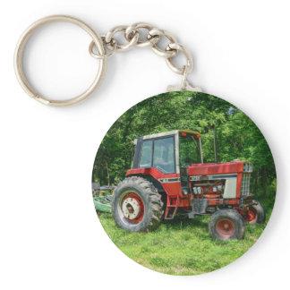 Old International Tractor Keychain