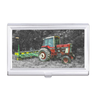 Old International Tractor Painterly Business Card Case