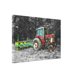 Old International Tractor Painterly Canvas Print