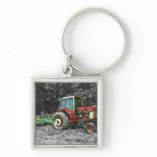 Old International Tractor Painterly Keychain