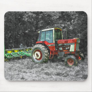 Old International Tractor Painterly Mouse Pad
