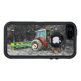 Old International Tractor Painterly OtterBox Defender iPhone Case