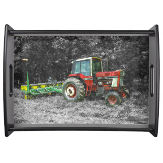 Old International Tractor Painterly Serving Tray