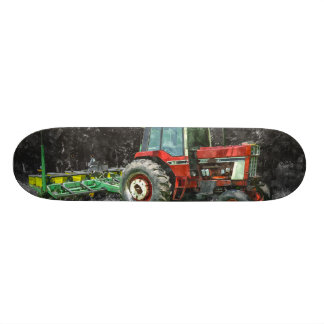 Old International Tractor Painterly Skateboard Deck