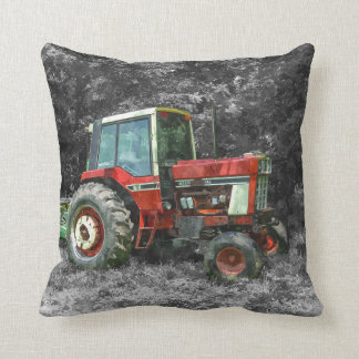 Old International Tractor Painterly Throw Pillow