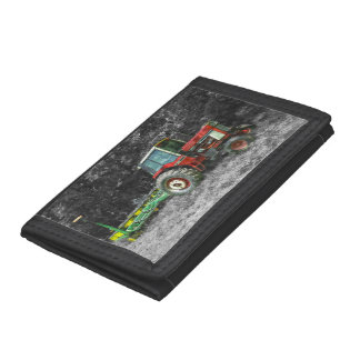 Old International Tractor Painterly Tri-fold Wallet