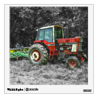 Old International Tractor Painterly Wall Sticker