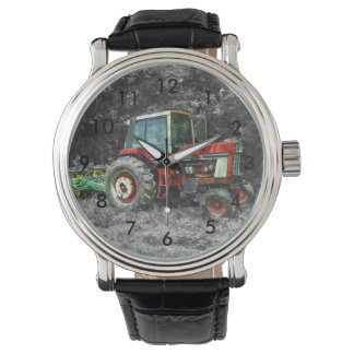Old International Tractor Painterly Wrist Watch